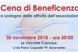 Cena di Beneficenza – 30 novembre 2018